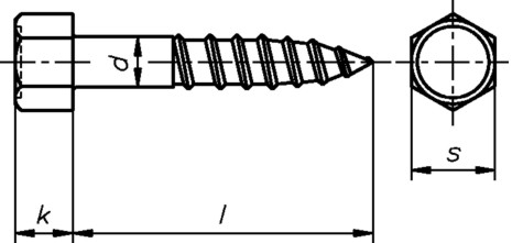 Holzschraube 6-kant