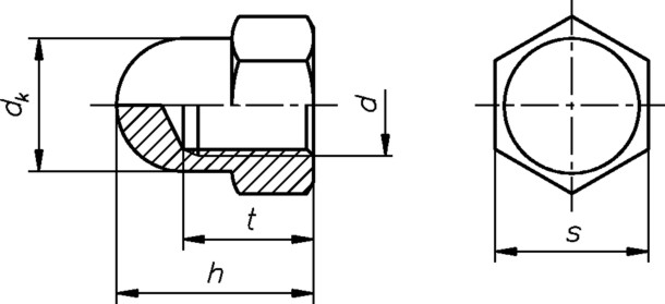 hutmutter m6 din1587 6 kant galvanisch verzinkt hohe form sechskant sonderpreis baumarkt. Black Bedroom Furniture Sets. Home Design Ideas