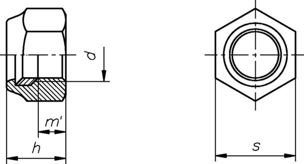sicherungsmutter m6 din985 mit klemmring galvanisch verzinkt 6 kant stoppmutter sonderpreis. Black Bedroom Furniture Sets. Home Design Ideas