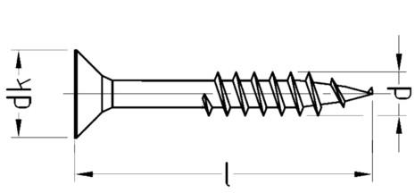 Spanplattenschraube